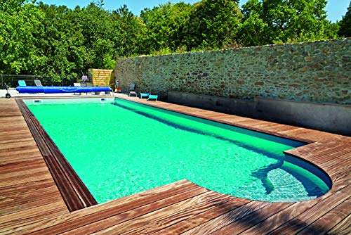 KWAD Styropor Stein Pool All Inclusive inkl. Römertreppe 250 800 x 400 x 150 cm
