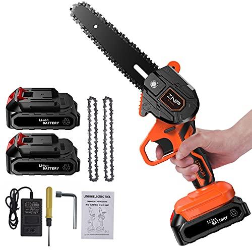 Mini Chainsaw Cordless, 6-Inch Portable...