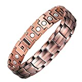 Jeracol Magnetic Bracelet Pure Copper Magnetic Bracelets for Arthritis Pain Relief with Strong