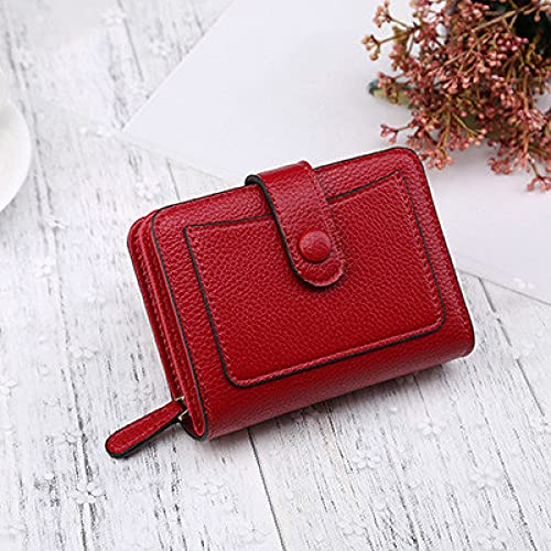 NYSJLONG Ladies Wallet Women Wallets  New Luxury Brand Red Black Small Mini Coin Purse Hasp Card Holder Lady Wallet Zipper Female Leather Buckle