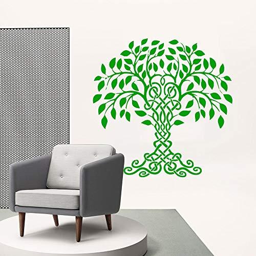 Wunderschöne Baum wandkunst Aufkleber Moderne wandtattoo Vinyl Aufkleber Wohnzimmer Dekoration entfernbares wandbild 57 cm x 57 cm