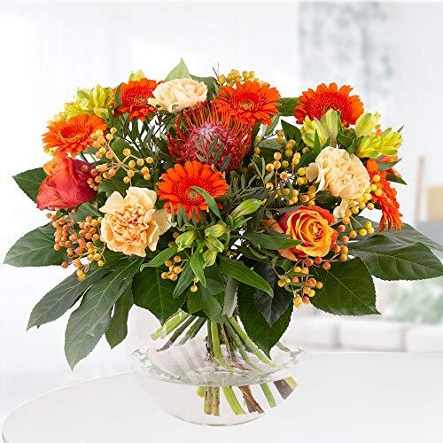 Biedermeierstrauß Flammenrausch | Frische Blumen von Blumenshop.de