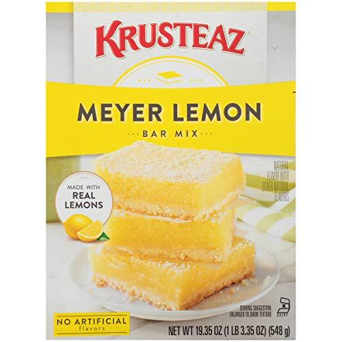 Krusteaz Meyer Lemon Bar Mix - No Artificial Flavors or Preservatives - 19.35 OZ (Pack of 12)
