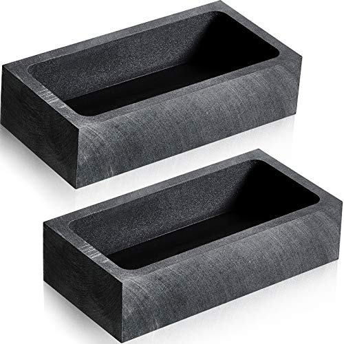 2 Pieces 1 KG Graphite Ingot Mold Crucible Mould for Melting Casting Refining Gold Silver Metal Aluminum Copper Brass