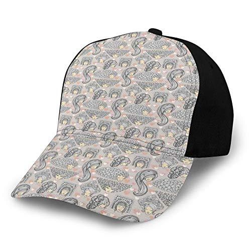 Gorro de béisbol liso lavado, estilo bohemio, con peinados ornamentales enredados con hojas y flores, sombrero de papá ajustable, regalo para hombres y mujeres