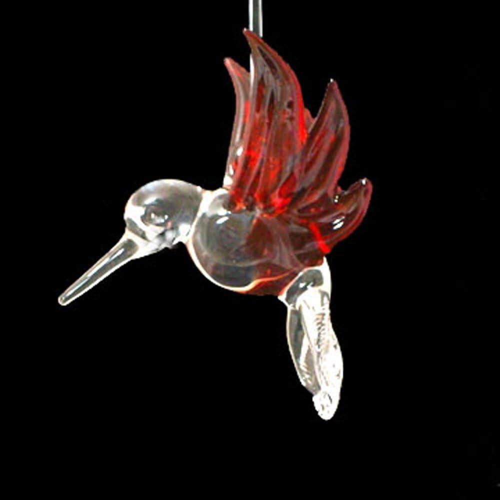 Hand blown Hanging Hummingbird