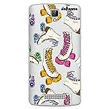 dakanna Funda Compatible con [ ZTE Blade L5 - L5 Plus ] de Silicona Flexible, Dibujo Diseño [ Patrón Patines Retro ], Color [Fondo Transparente] Carcasa Case Cover de Gel TPU para Smartphone