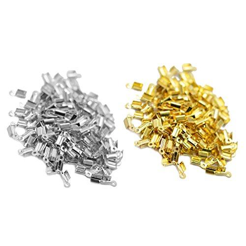 200er Set Metall Verschluss Kettenverschluss Crimpenden Verschluss für DIY Herstellung