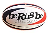 beRugbe Match Dual Ballon de rugby Bleu/Rouge Taille 5