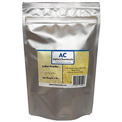 Sulfur Powder (Brimstone) - 99.5% Pure - 1 Pound