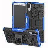 LFDZ Sony Xperia L3 Hülle, Abdeckung Cover schutzhülle Tough Strong Rugged Shock Proof Heavy Duty Hülle Für Sony Xperia L3 Smartphone (Nicht zutreffend Sony Xperia L2),Blau