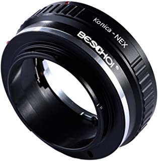 Adaptador KONICA-NEX Beschoi Adaptador de Lente para Konica AR Lente al Cuerpo de la Cámara Sony NEX E-Mount Compatible con Sony NEX-3 NEX-3C NEX-5 NEX-5C NEX-5N NEX-5R NEX-6 NEX-7 NEX-VG10 etc