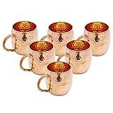 Indianbeautifulart 6 Piezas de Cobre Moscow Mule Taza Vajilla Utensilios de Cocina Accesorios de la Barra Vasos Copa