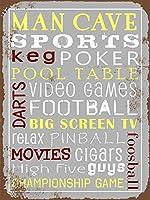 簡素な雑貨屋 Man Cave Sports アメリカン 雑貨 ナンバープレート ヴィンテージ風 ライセンスプレート メタルプレート ブリキ 看板 アンティーク レトロ