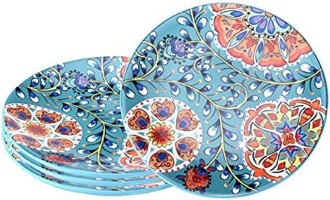 Sonemone 8 6 Salad Plates Set of 4 Hand Painted Floral Ceramic Dessert Appetizer Plates Chip product image