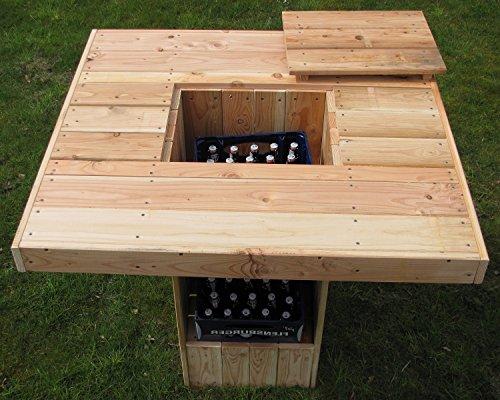Partytisch Lärche für drinnen oder draussen rustikaler Stehtisch - (3029)