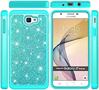 SIZOO - Fitted Cases - Case for for Samsung Galaxy J7 Prime 2016 Bling Glitter 2 in 1 Silicon and PC Back Cover for for Sa...