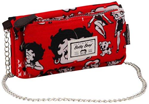 Betty Boop Rouge Porte-Monnaie, 20 cm, (Rojo)