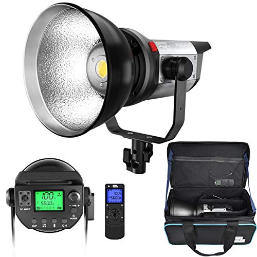 Pixel LED Video Light Studio Photography Continuous Output Lighting Spotlight 5600K,CRI 97+,TLCI 99+ with Remote Control Bowens Mount for Video Recording, Children Photography, Outdoor Shooting (80W)