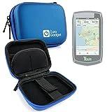 Duragadget Coque étui Rigide Bleu pour Teasi One | One2 | One3 | Pro | Pro Pulse | Volt GPS de randonnée pédestre ou Cycliste + Clip d'attache détachable