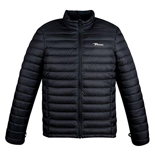 Timberbrother Piumino Uomo Down Jacket (Nero, XL)