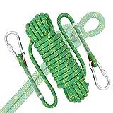 Cuerda de Seguridad Cuerda de escalada de 12 mm, cuerda de rappel de nylon, hebilla de cuerda de escalada doble, cuerda de nylon refractaria, adecuada for escalar, escapar, cuerda de entrenamiento (ve