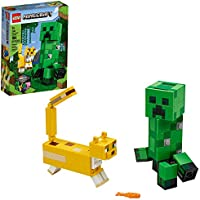 LEGO Minecraft Creeper BigFig and Ocelot Characters 21156 Buildable Toy Minecraft Figure Gift Set for Play and...