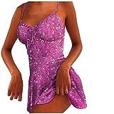 LRWEY Minivestido sin mangas con cremallera y estampado floral para mujer