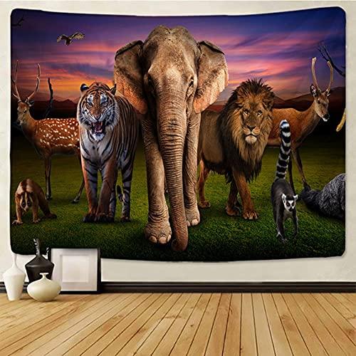 León estry animales de pastizales africanos Cartoonwall colgante toalla de playa manta de poliéster fina yoga-gt183-1,230x150cm