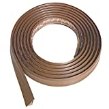 Instatrim 3/4 Inch (Covers 3/8' Gap) Flexible, Self-Adhesive, Caulk and Trim Strips for Floors, Ceilings, Countertops and More (Light Brown, 10ft Long, 1 Pack)