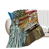 Desheze Kuscheldecke Kinder Vereinigte Staaten Von Amerika Fleecedecke Flanell Decke Wohndecken Couchdecke Flauschig Überwurf Tagesdecke 150×200cm