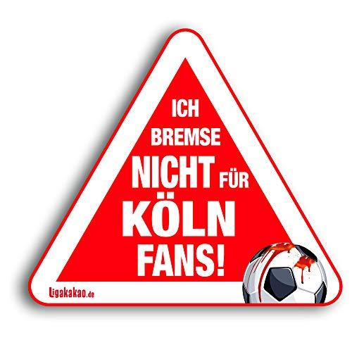 Kfz-Aufkleber Ich Bremse Nicht für Köln-Fans | Für mehr Spaß im Verkehr für alle Fortuna Düsseldorf, Bayer 04 Leverkusen- & Fußball-Fans | Vereinsaufkleber - PKW Auto Kfz Aufkleber