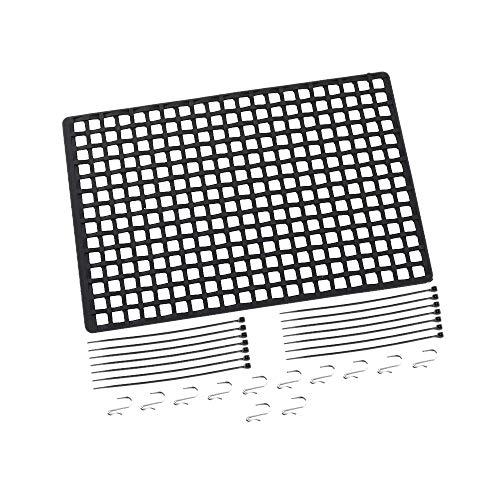 Naliovker Fensternetz Gummi Gep?Cknetz Fensterdekoration für 1/10 Rc Auto SCX10 90046 Wraith D90 TRX4 Schwarz