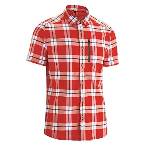 Gonso M Bental Kariert-Rot, Herren Hemd, Größe XL - Farbe Red - Blue Check