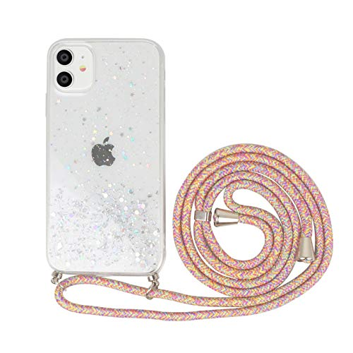 Nupcknn Funda Marmol con Cuerda para iPhone 11, Carcasa TPU Suave Silicona Case con Correa Colgante Ajustable Collar Correa de Cuello Cadena Cordón (Marmol 2)