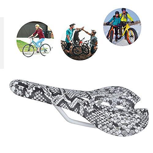 HKIASQ Cojín de Bicicleta Cojín de Ciclismo BTM Cojín de Silla de Fibra de Carbono Cojín con Forma de telaraña Cojín de Bicicleta Negro,A