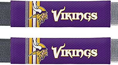 Fremont Die NFL Minnesota Vikings Rally DesignAuto Seat Belt Pads, Team Colors, One Size
