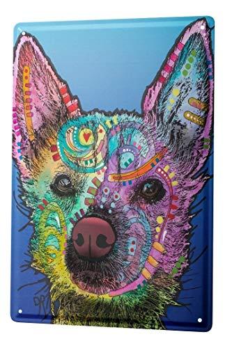 LEotiE SINCE 2004 Plaque en Métal Métallique Poster Mural tin Sign Animal Shelter Chien coloré