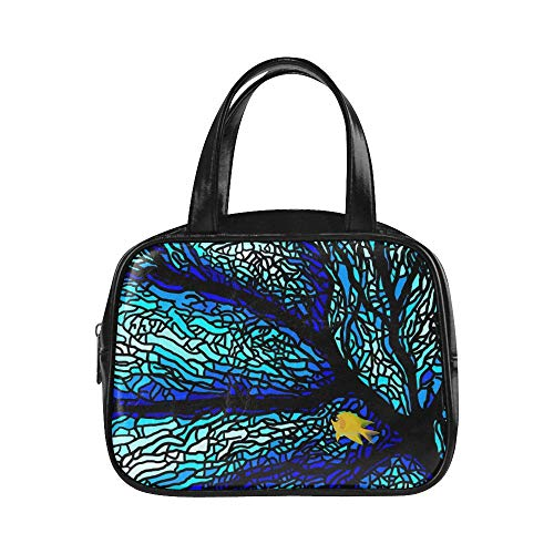UGDFJYV Bolso de moda Mujer Fans del mar Buceo Vidrieras de coral Bolsas de mujer subacuáticas Bolsas de moda para niñas adolescentes Bolsas de cuero de pu Puño superior Bolso para niñas Moda