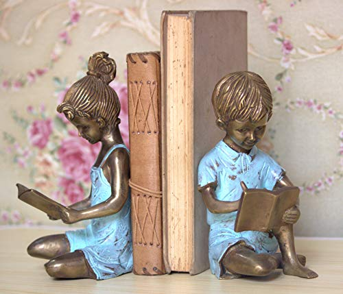 Wish and More Metal Book Ends,Bookends Support for Shelves Tables,Book Shelf Holder,Heavy Books...