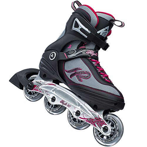 K2 Flight 80 W Inline Skates 30A0732 - Black/Grey/Pink Gr. 36.5 (US 6.5)