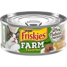Friskies Pack of 12-5.5 OZ CANS Farm Favorites Pate` with Natural Chicken & Carrots (12) Cans