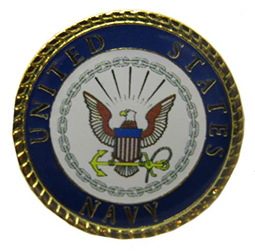 Wholesale Pack of 50 United States Navy Emblem 15/16' Flag Circular Hat Cap lapel Pin