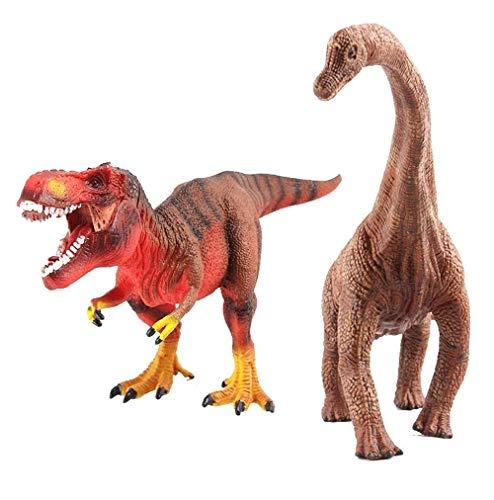 deAO Dinosaurios de Juguete - Figuras Prehistóricas Realistas Set (T-Rex & Diplodocus)