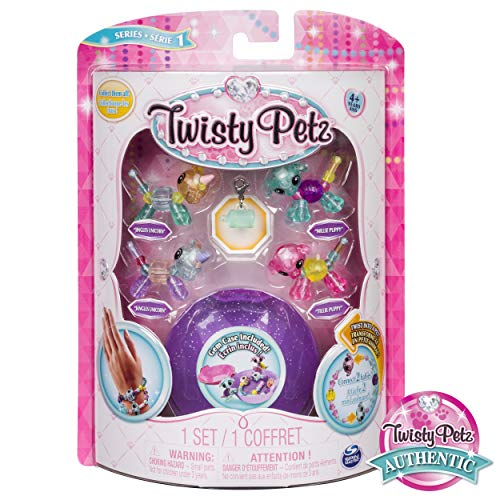 Twisty Petz - Babies 4-Pack Unicorns and Puppies Collectible Bracelet Set for Kids