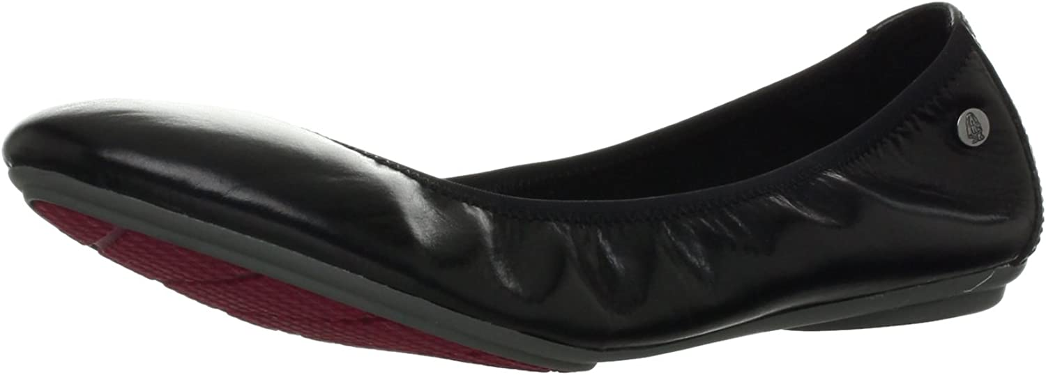 Hush Puppies Womens Chaste Ballet Leather Slip-Ons