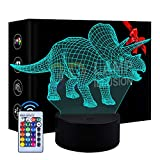Luce Notturna per Bambini per Bambini, Regalo di Compleanno per Bambini di 3-8 Anni Bambini dimmerabili 3D LED Lampada Notturna Giocattoli per Bambini da 3 a 10 Anni Lampada per Bambini