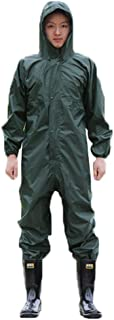 Guiran Mens Waterproof Overalls Workwear Hooded Coverall Overall Protective Safety Trousers