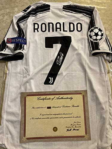 JSTORE - Camiseta Ronaldo Palace autografiada CR7 + certificado COA ⭐