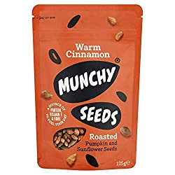 SWEET & DELICIOUS VEGAN SNACK - A bag full of comfort and cuddles that will add the delicious flavour of cinnamon to your morning yoghurt, cereal, porridge or as a quick snack during the day. These deliciously crunchy cinnamon roasted sunflower and p...